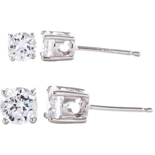 2.70 Carat T.G.W. Cubic Zirconia Sterling Silver Stud Earrings