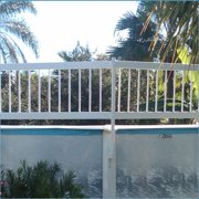 """Aboveground Swimming Pool Resin Safety Fence Base """"Kit A 8 Sections"""" Color-White"""