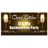 Cheers It's My Party Bachelorette Party Banner