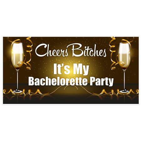 Cheers It's My Party Bachelorette Party Banner - Cheers Banner