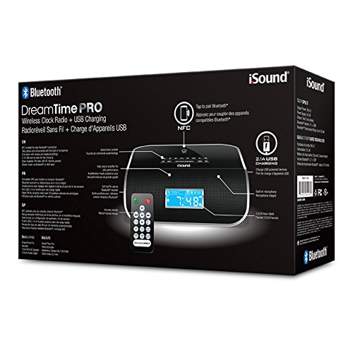 Isound Isound-6340 Dreamtime Pro Clock Radio With Bluetooth[r]