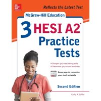 McGraw-Hill Education 3 Hesi A2 Practice Tests, Second Edition (Paperback)