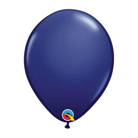 Qualatex 91179 11 in. Latex Balloon, Navy - Navy Balloons