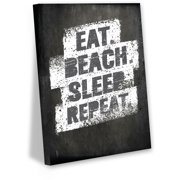 Awkward Styles Eat Beach Sleep Repeat Canvas Wall Art Gifts for Beach House Holiday Vibes Decor Inspirational Quotes Wall Decor Motivational Wall Art Cute Living Room Bedroom Decor Lifestyle Canvas