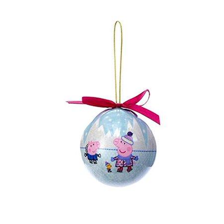 Peppa Pig Ball Ornaments (Blue Ice Skating Fun)