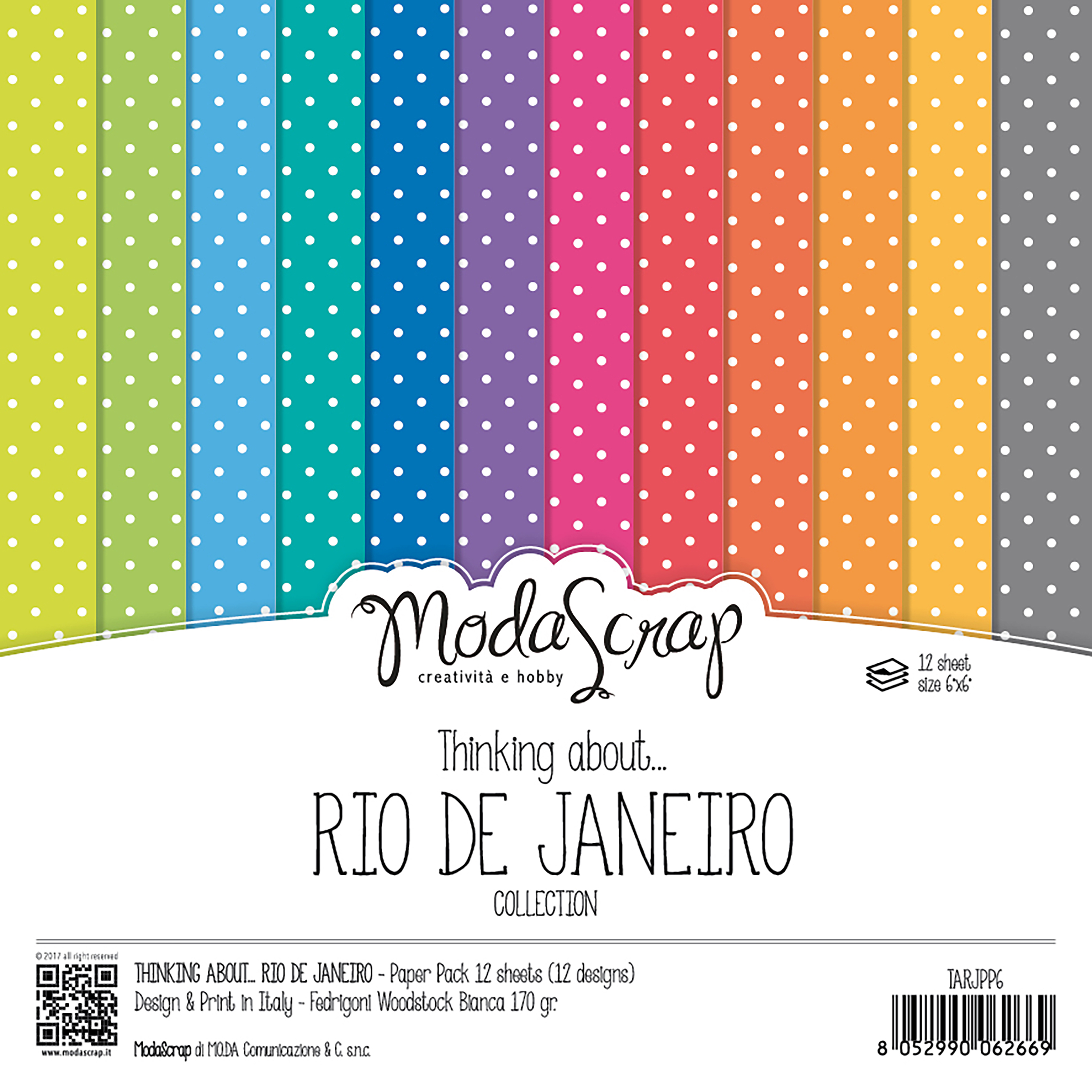 "Elizabeth Craft ModaScrap Paper Pack 6""X6"" 12/Pkg-Thinking About Rio De Janeiro"