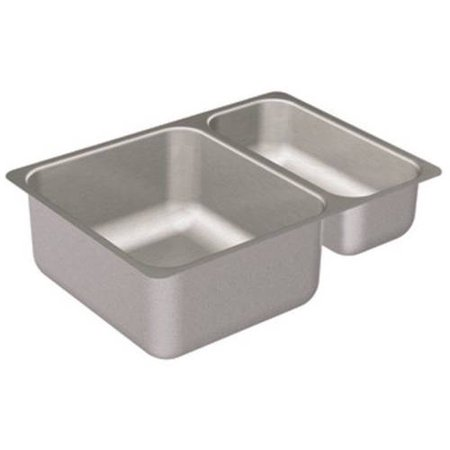 Moen G20273 Double Basin Undermount Steel Kitchen Sink