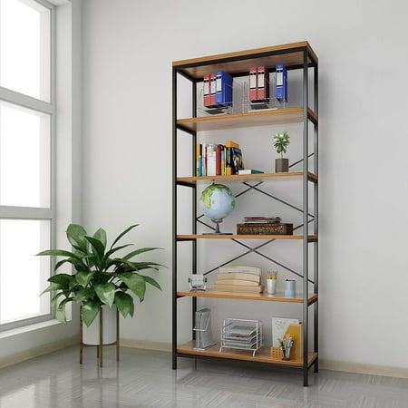 3 /4/5 Shelf Wooden Bookcase Bookshelves Home Organizer Display CYBST ()
