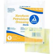 Dynarex Xeroform Petrolatum Medicated Fine Mesh Gauze Dressing for Wound Care, 25 Count