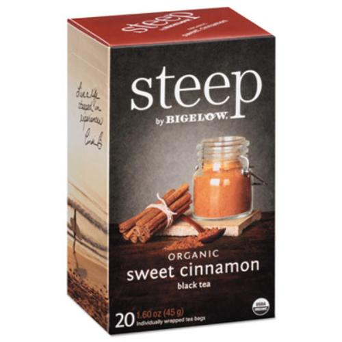 (3 Pack) Steep, Organic Sweet Cinnamon, Tea Bags, 20