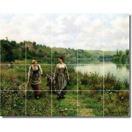 Ceramic Tile Mural Daniel Ridgway Knight Country Painting 123 60 w x