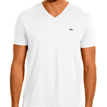 53097ddc Lacoste Men's Short Sleeve V-Neck Pima Cotton T-Shirt