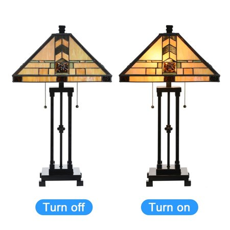 Tiffany Style Egyptian Table Lamp Home Decor Lighting Mission Design Desk Lamp With 14 25 Lampshade