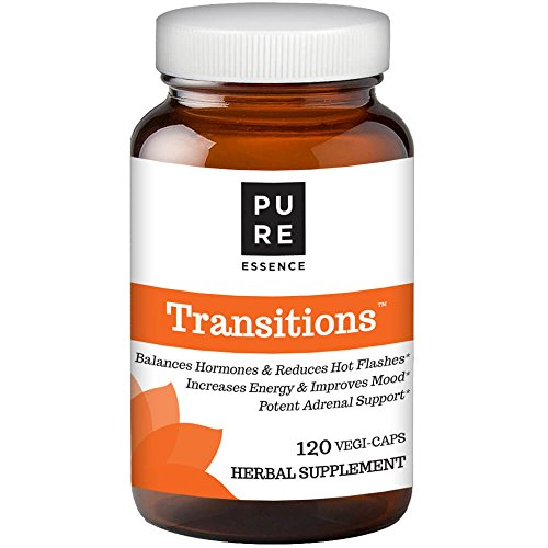Transitions by Pure Essence Labs - Natural Menopause Relief Supplement - 120 Capsules