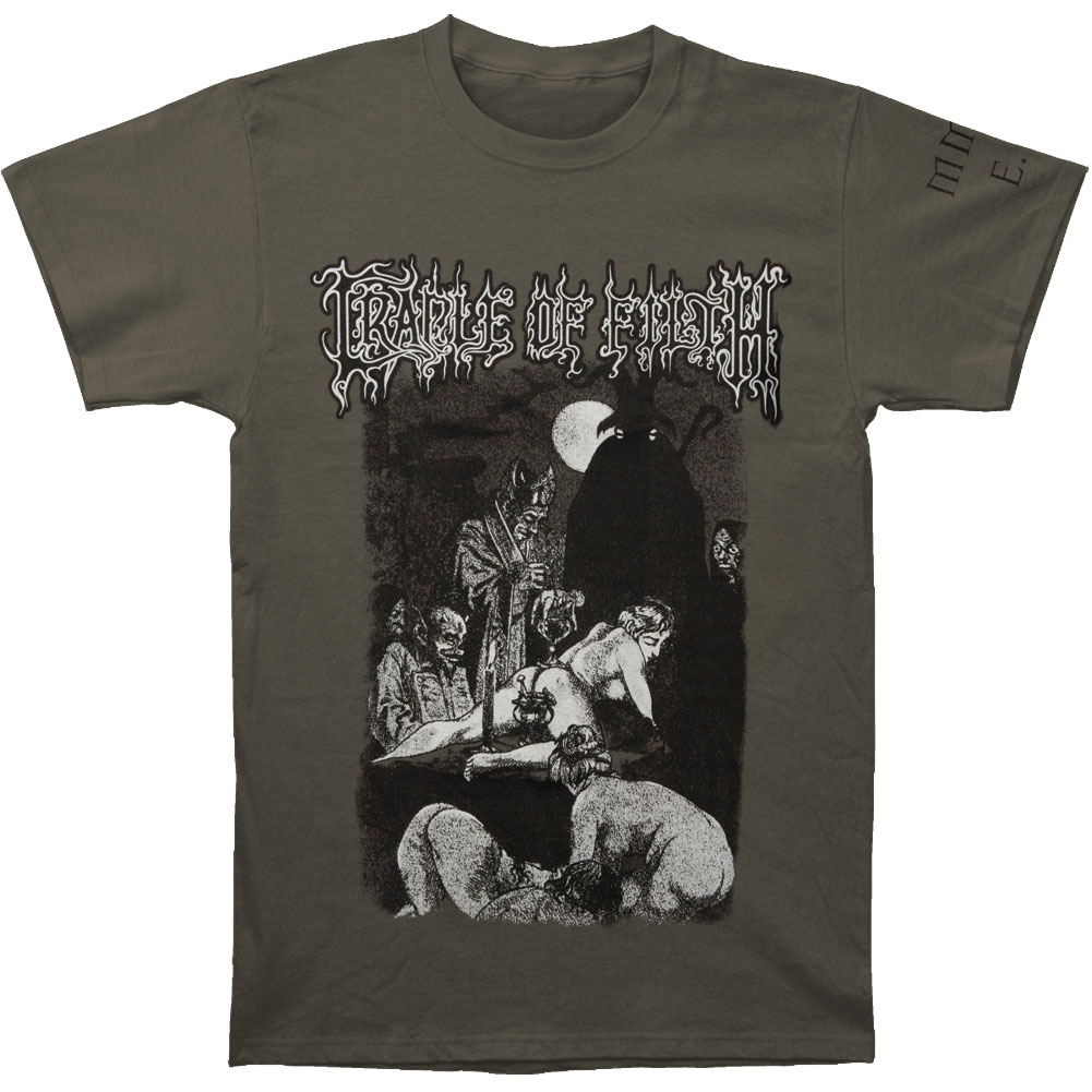 Cradle Of Filth Men's  Black Mass T-shirt Grey