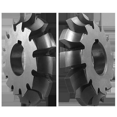 Left Hand Corner Rounding Cutter, High Speed Steel - 0.375 Radius x 3.75 dia. x 0.562 Wide x 1.25 Hole