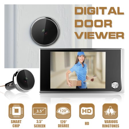 Peephole Security Cameras (3.5'' LCD Digital Video Hidden Peephole Doorbell Viewer Door Eye Camera)