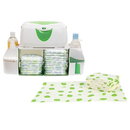 Munchkin Diaper Duty Organizer with 40 Count Disposable Changing Pads ()