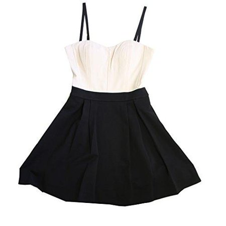 NEW DVF DIANE VON FURSTENBERG AVEDON CREAM BLACK STRAPLESS FLARE DRESS SIZE (Diane Von Furstenberg Black Dress)