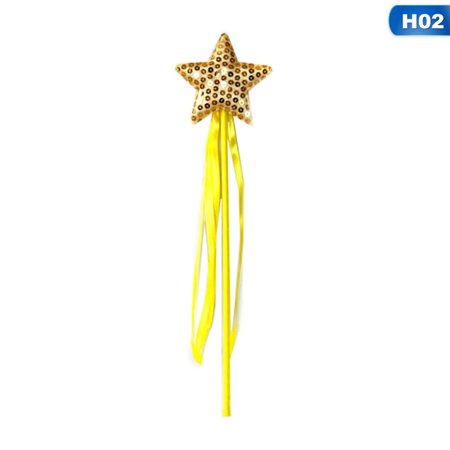 AkoaDa Five Pointed Star Fairy Wand Stick Kids Girl Princess Party Favor Supplies US - Star Wands Wholesale