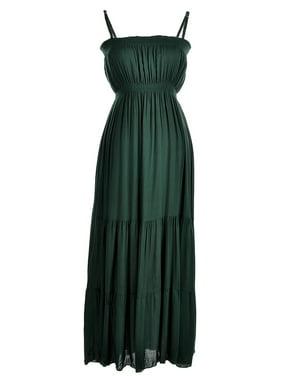 1758d030c26 Product Image Anna-Kaci Womens Cotton Adjustable Smocked Waist Sleeveless  Maxi Dress