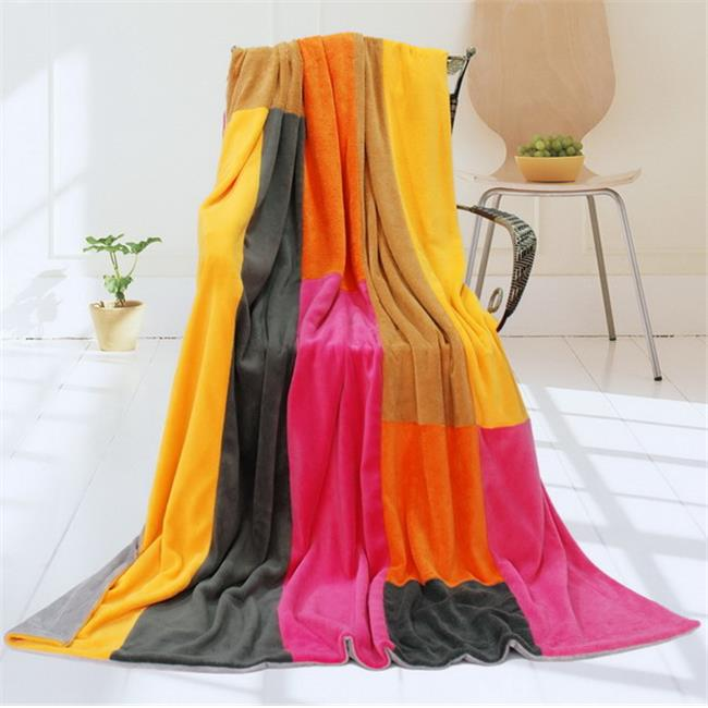 ONITIVA-BLK-058 Onitiva - Flower Fairy Soft Coral Fleece Patchwork Throw Blanket