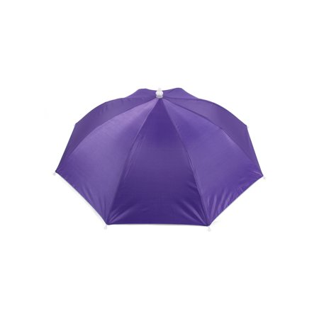 Unique Bargains Fishing Camping Purple Sun Shade Polyester Umbrella Hat (Fishing Umbrella Hat)