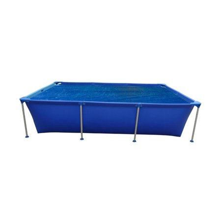 Pool Central 6' Rectangular Floating Solar Cover for Steel Frame Swimming Pools - Blue