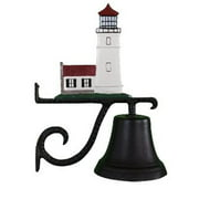 Montague Metal Products CB-1-92-NC Cast Bell With Natural Color Cottage Lighthouse Ornament