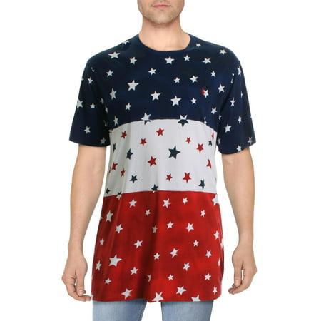 Polo Ralph Lauren Mens Big & Tall Stars & Stripes Cotton Graphic T-Shirt