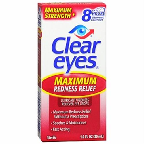 Clear Eyes Maximum Redness Relief Eye Drops 1 oz (Pack of 2)