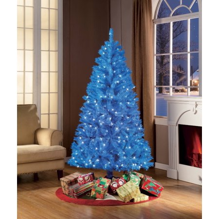 Holiday Time Christmas Tree.Holiday Time 6ft Pre Lit Blue Tree
