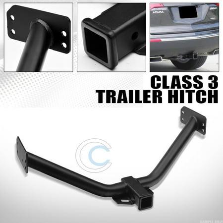 R&L Racing Class 3 Matte Black Trailer Hitch Receiver Rear Bumper Tow Kit 2