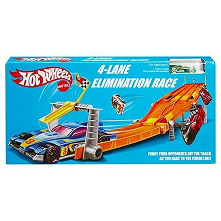 Hot Wheels Retro 4-Lane Elimination Race Track Set