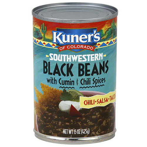 Kuner's Southwestern Black Beans With Cumin & Chili Spices, 15 oz (Pack of 12)