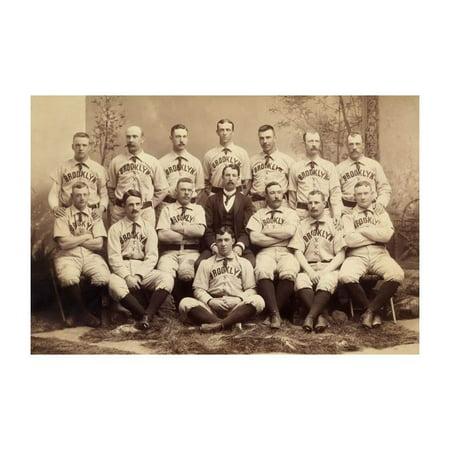 (Brooklyn, New York, Baseball Team Print (Unframed Paper Print 20x30))