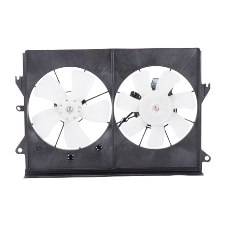 TYC 621120 Dual Radiator and Condenser Fan Assembly for Toyota 16361-22051 fl