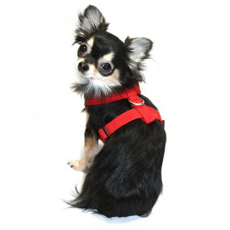 Hip Doggie HD-6PMHRD-L Large Ultra Comfort Red Mesh Harness Vest