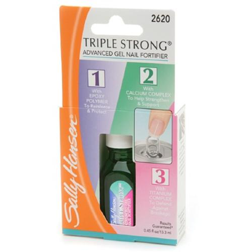 Sally Hansen Triple Strong Advanced Gel Nail Fortifier, [2620], 0.45 oz (Pack of 3)