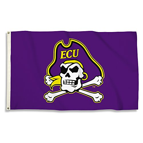 BSI Products 35028 NCAA East Carolina Pirates Flag with Grommets - 3 x 5 ft. - image 1 of 1