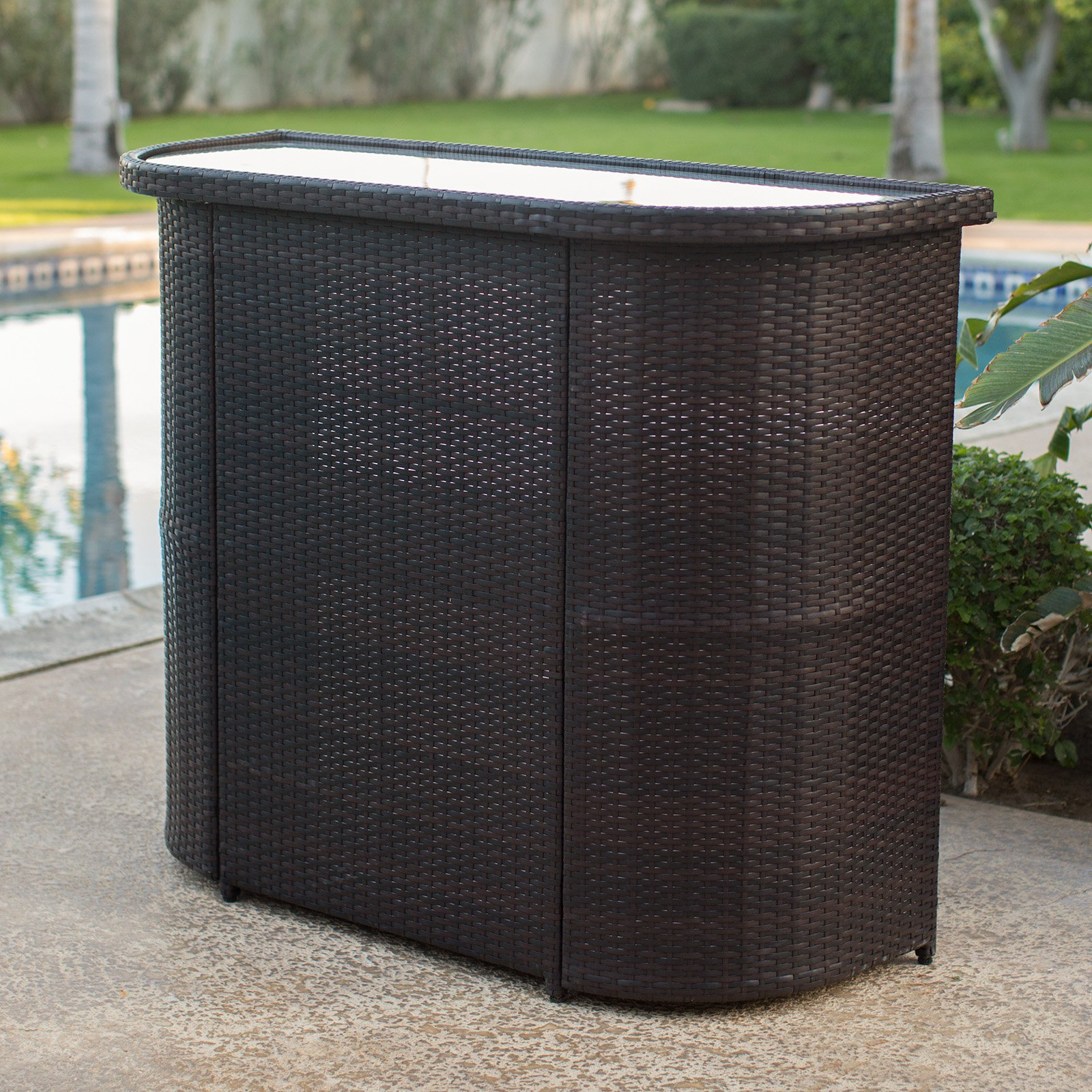 Coral Coast Berea All Weather Wicker Bar