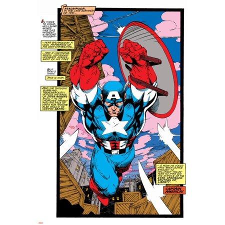 Uncanny X-Men No.268 Cover: Captain America Print Wall Art By Jim Lee