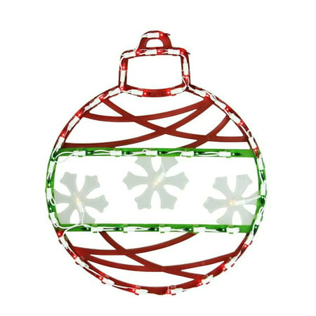 17 red green and white lighted christmas ornament window silhouette decoration