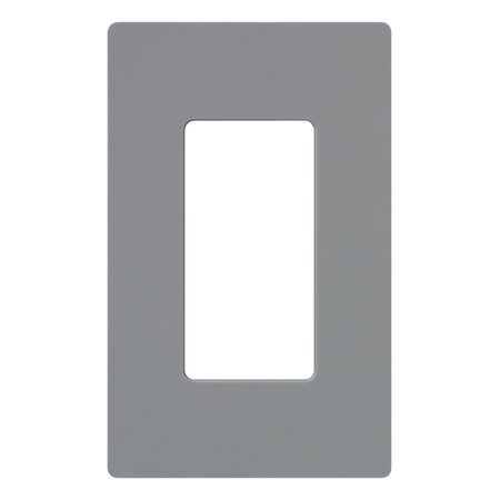 Claro Decorator (Lutron Claro 1 Gang Decorator Wallplate, CW-1-GR, Gray )
