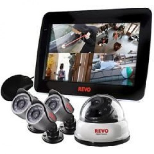 Revo 4 Channel Surveillance System with 500GB HDD and 40TVL 4 Cameras - R4D1BB3BCMB-5G