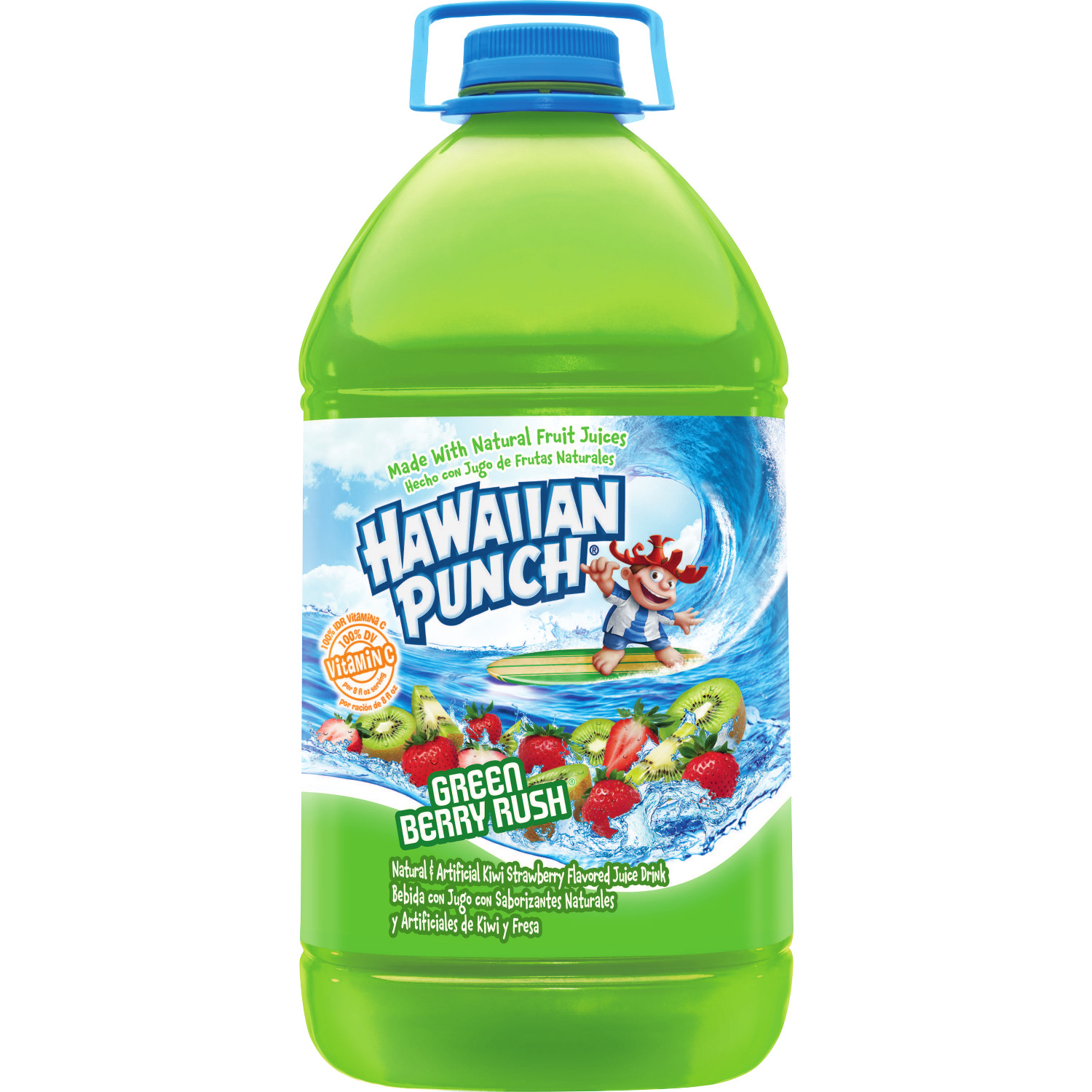 Hawaiian Punch Green Berry Rush, Juice Drink, 1 gal bottle