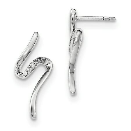 SS White Ice Diamond Post Earrings QW389 - image 2 de 2
