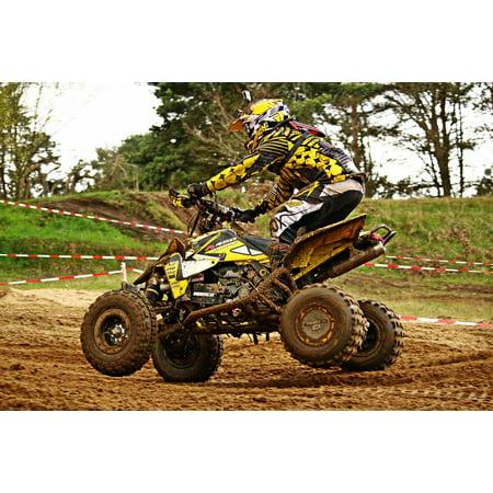 Enduro Atv - LAMINATED POSTER Atv Motocross Enduro Quad All-terrain Vehicle Poster Print 24 x 36