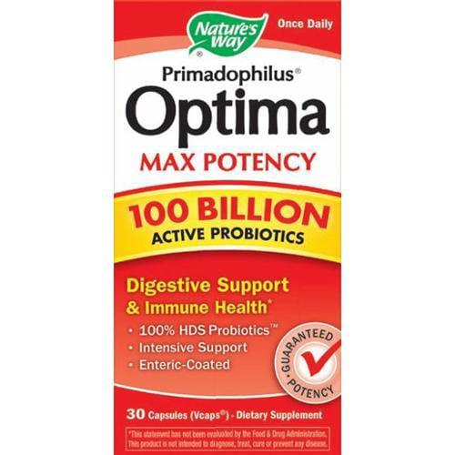 Primadophilus Optima Max Potency- 100 Billion Nature's Way 30 VCaps