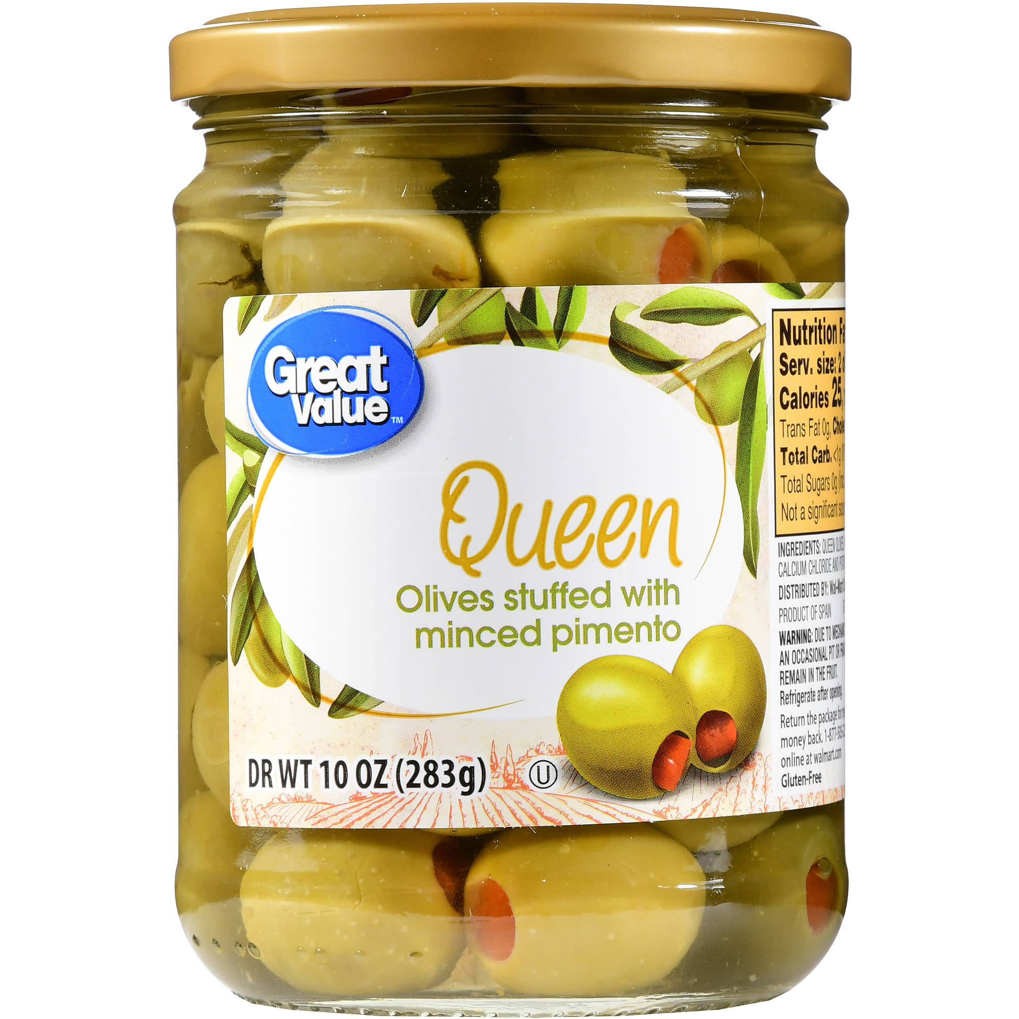 Great Value Minced Pimento Stuffed Queen Olives, 10 oz